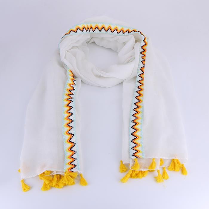Ethnic Tassel Cotton Long Shawl.JPG