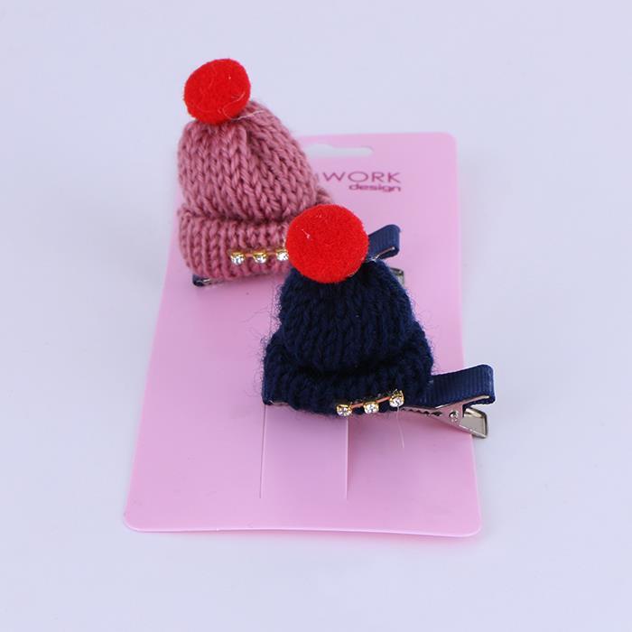 Children Novelty Small Hat Hair Clips Christmas Gift Hairpins.JPG