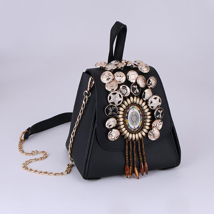 Ethnic Pu Leather Bucket Bag Shoulder Personalized Messenger Bag .JPG