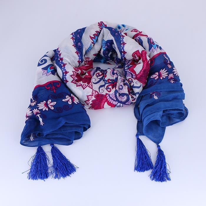 Lady wild square tassel warm shawl scarf .JPG