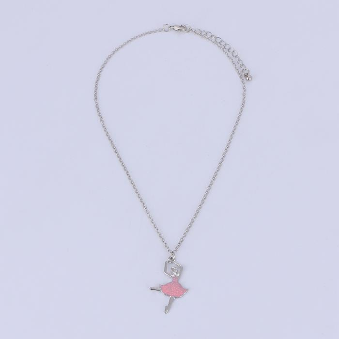 Exquisite and lightweight fashion ballet pendant female necklace.JPG