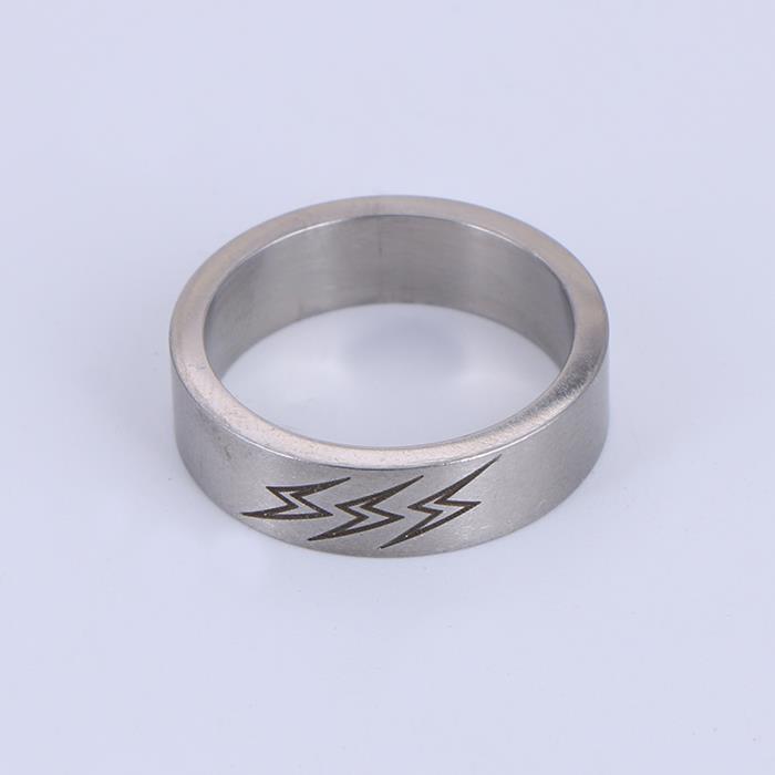 Punk Minimalist Lightning Stainless Steel Rings.JPG