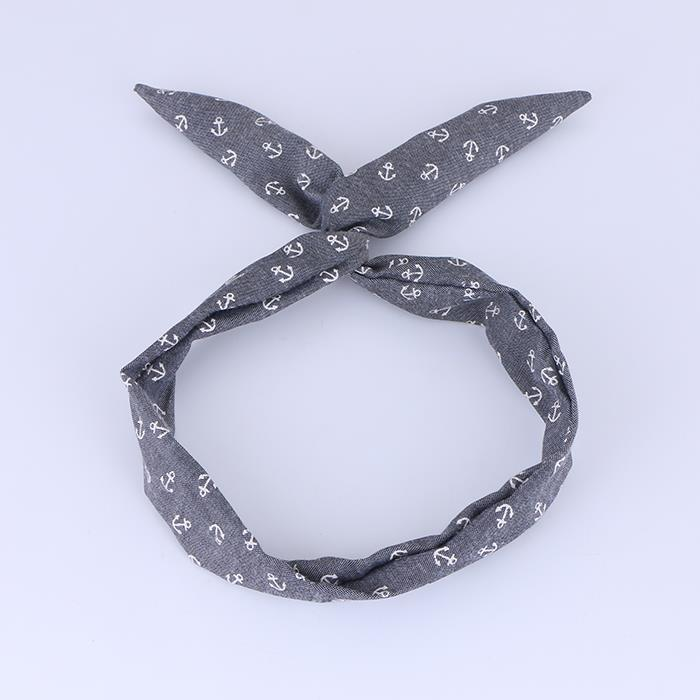 Lady knotted cross rabbit ears face makeup hair band hair accessories.JPG