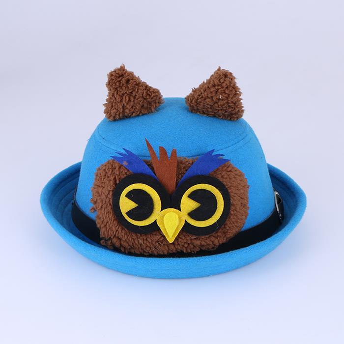 Autumn and winter children's woolen animal shape dome hat .JPG