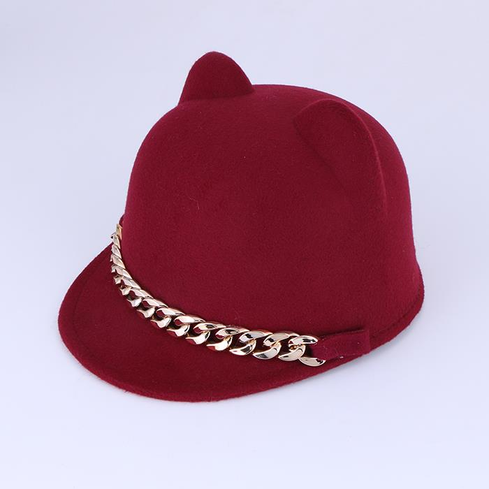 Cute ear chain articles autumn and winter windproof equestrian caps.JPG
