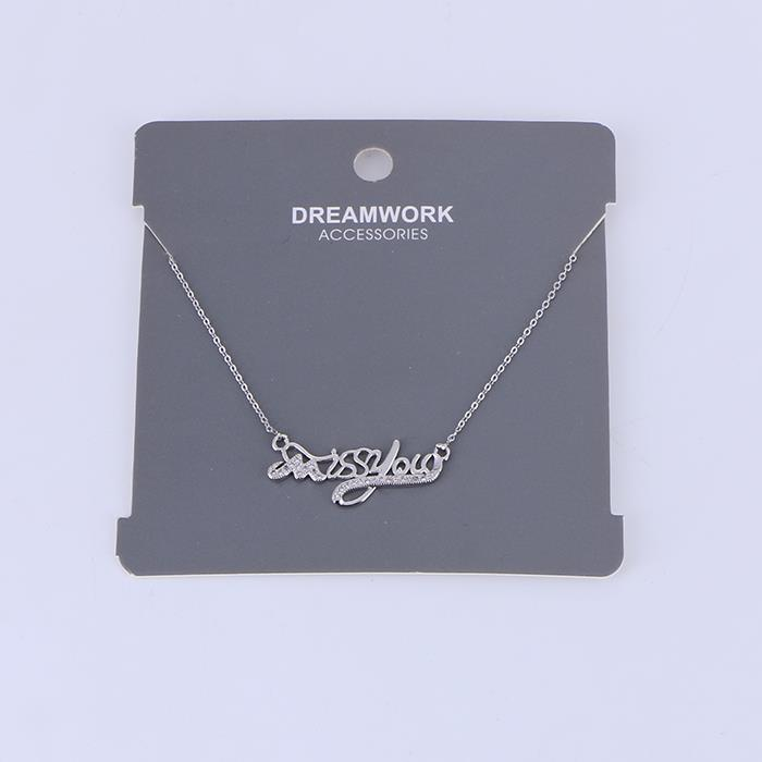 Elegant Miss You English Alphabet Zircon Choker Necklace.JPG