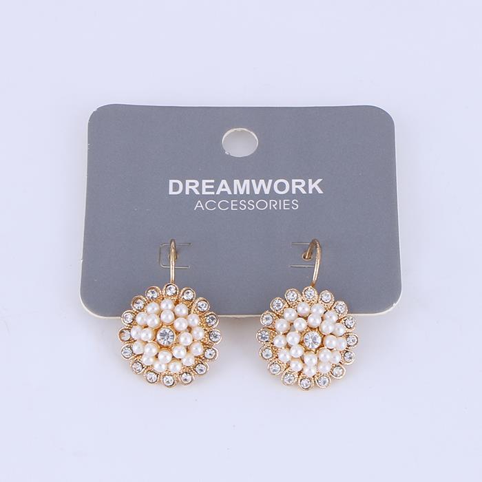 Charm Pearl Rhinestone Flower Earring.JPG