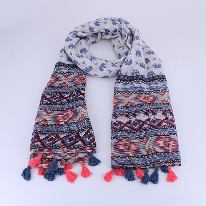 National Style Elegant tassel Shawl Wrap Scarf .JPG