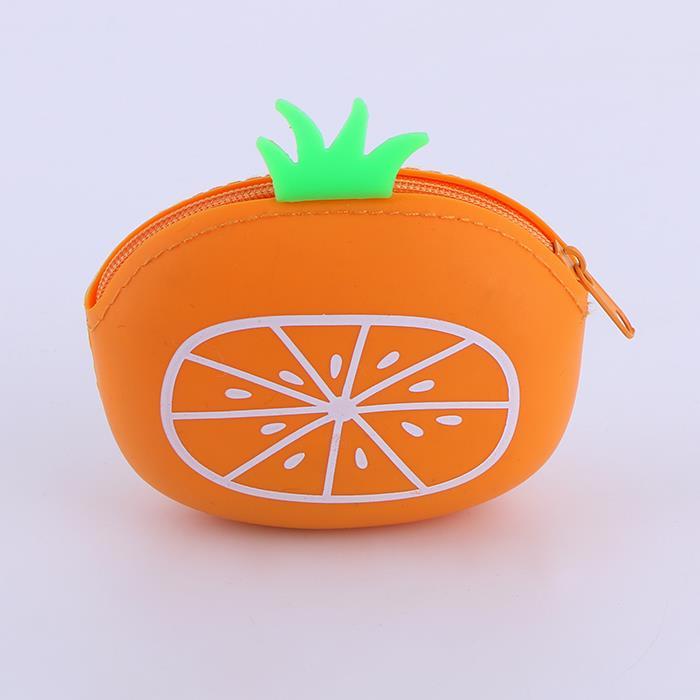 Fresh fruit cartoon creative silicone zip coin purse.JPG