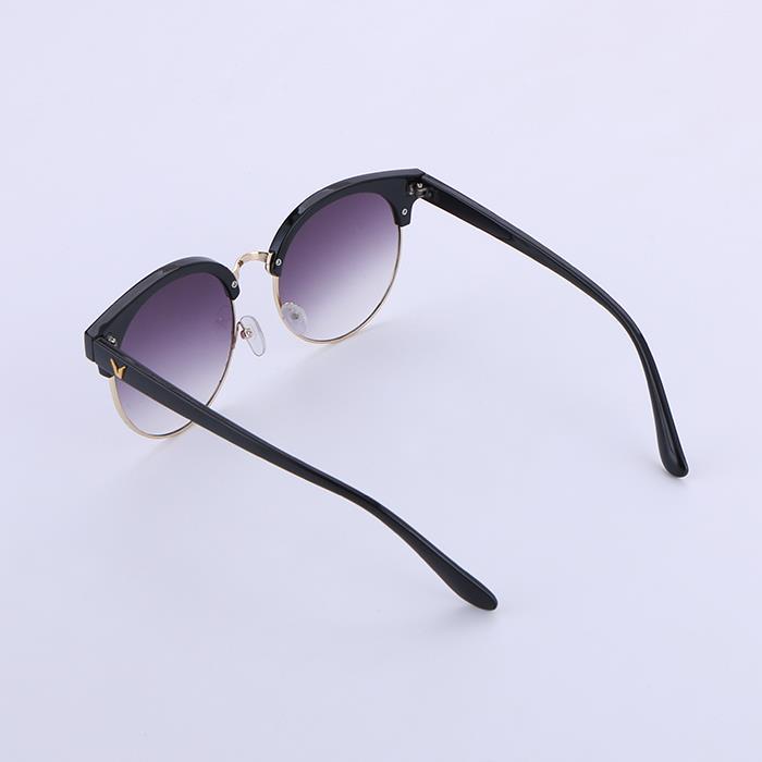 Retro Colorful Fashion Polarized Round Frame Studded Sunglasses.JPG
