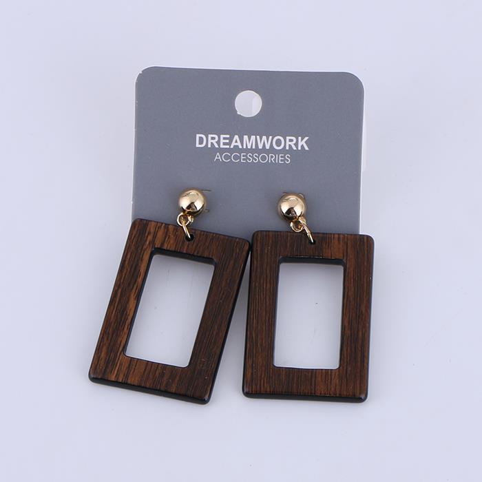 Personalized vintage wood grain geometric earrings.JPG