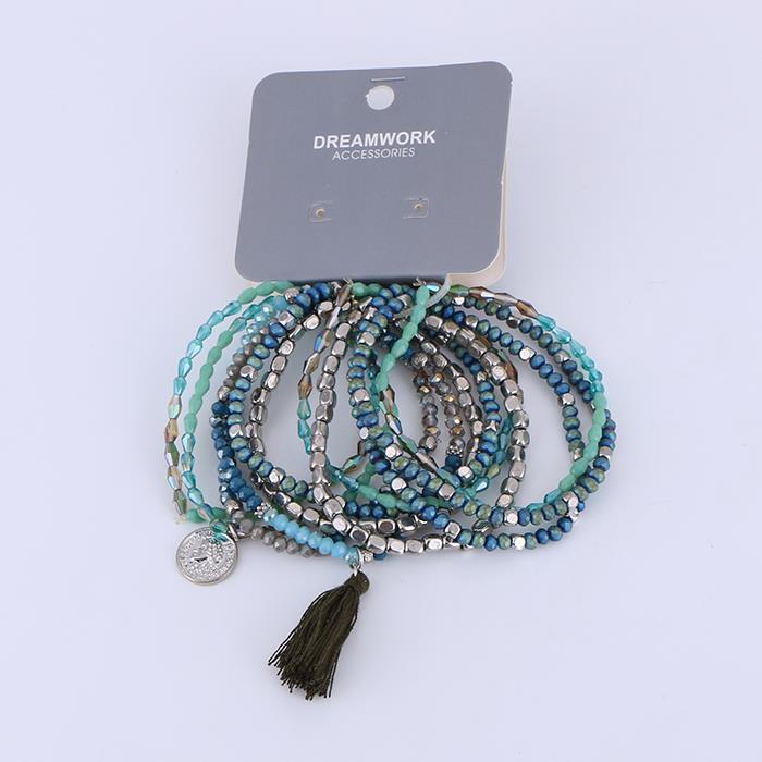 Multi-group ethnic multicolor glass beads bracelet.jpg