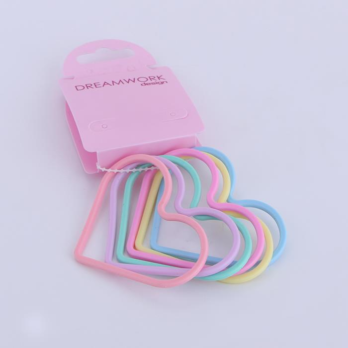 Candy color love heart bracelet silicone hair ring.JPG