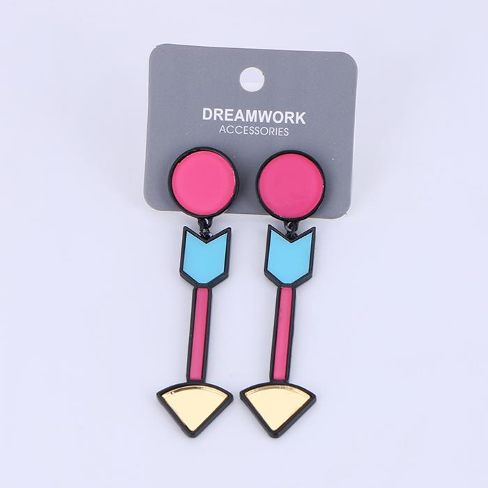 Exaggerated personality arrow acrylic earrings.JPG