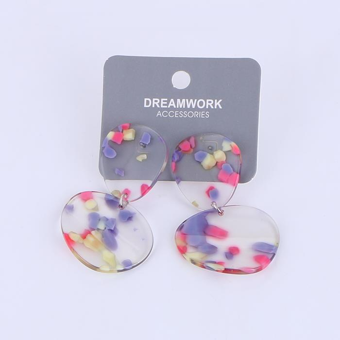 Trendy Acrylic Geometry Resin Statement Pendant Earrings.JPG