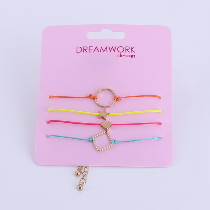 4pcs/Set Elegant Colorful Wax Rope Geometric Bracelet Set.JPG