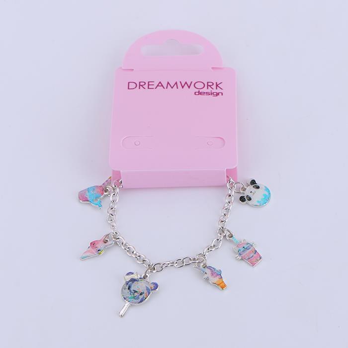 Cartoon animal ice cream lollipop girl heart bracelet.JPG
