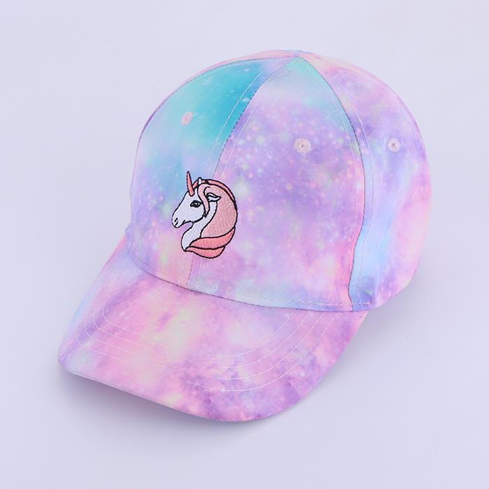 Sweet wind unicorn embroidery sunscreen visor baseball cap.JPG