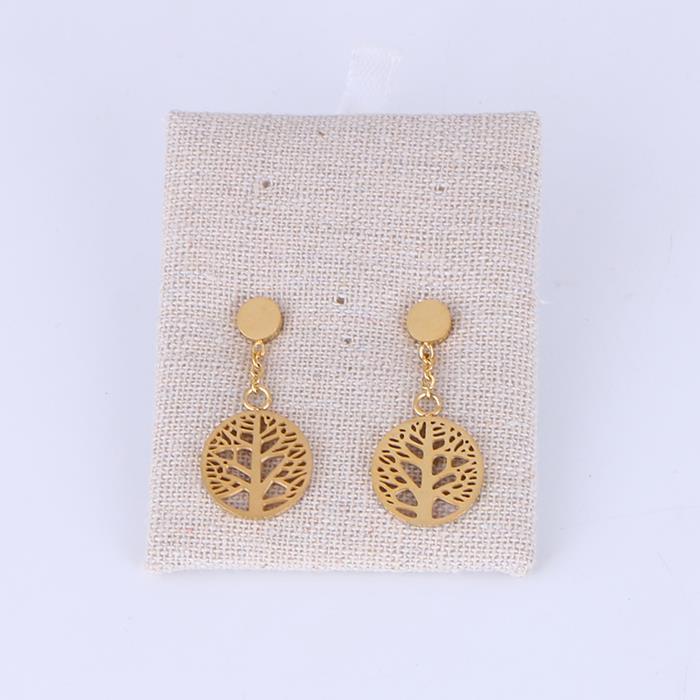 Literary hollow geometric tree disc earrings.JPG