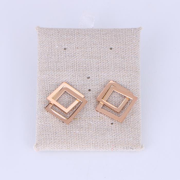 Temperament versatile diamond geometry earrings.JPG