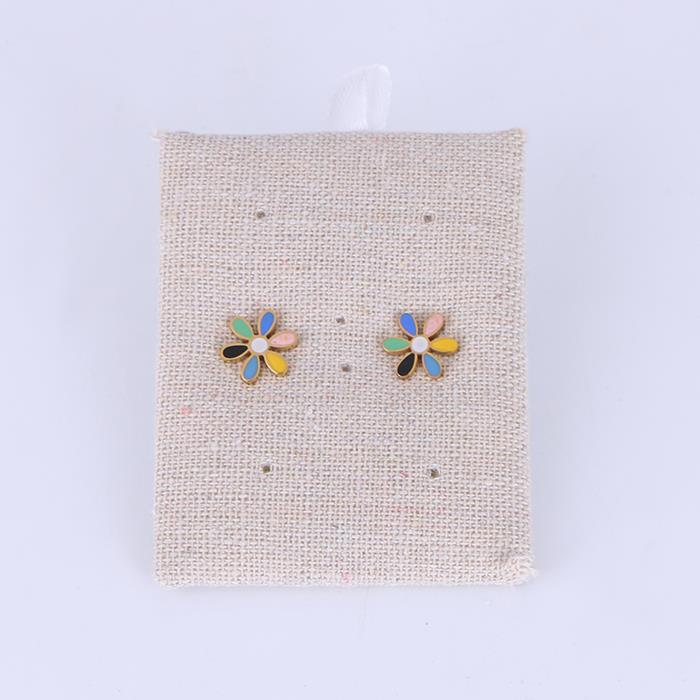 Cute Colorful Flower Stainless Steel Stud Earring.JPG