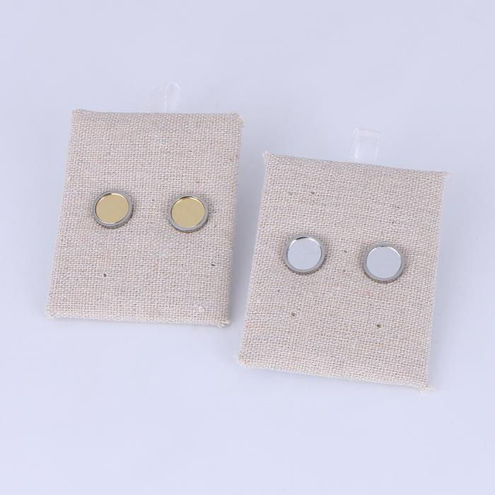 Simple circular geometric mirror earrings.JPG