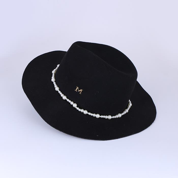 Solid color wide-brimmed British retro top hat.jpg