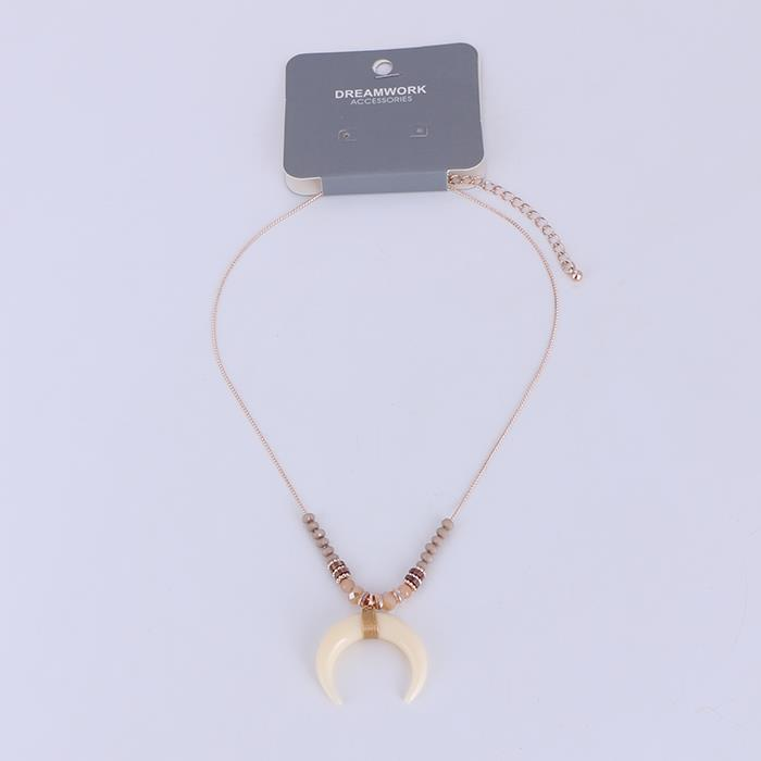 Simple milky white horn necklace.JPG