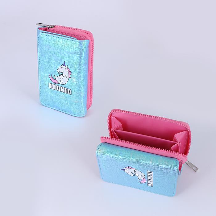 Cute Trifold Wallet Card Holder Girls Small Coin Purse.jpg