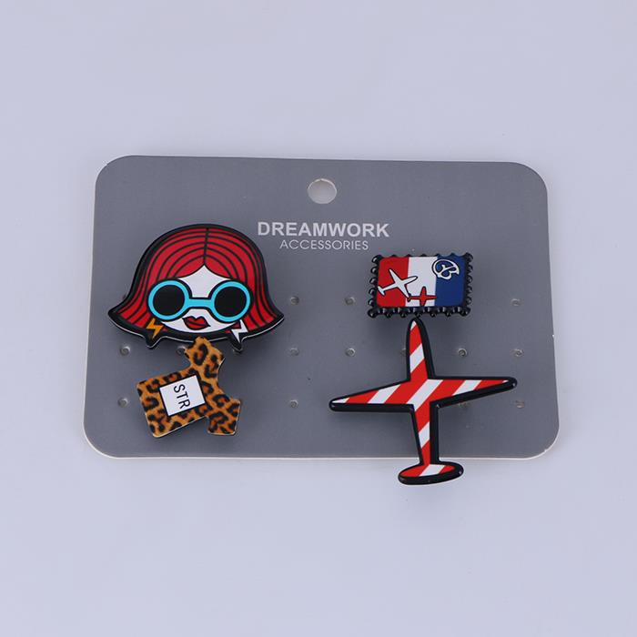 Trendy Girl Aircraft clothes Medals Brooch.JPG