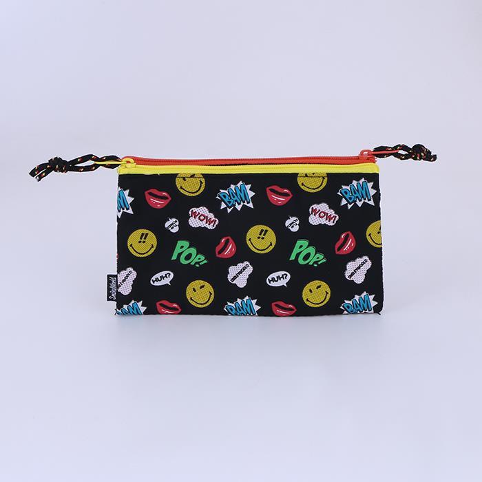 Cute Smile Printing Coin Purse Cloth Wallet.JPG