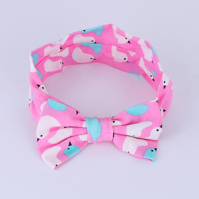 Bow children's baby soft elastic band headwear .JPG