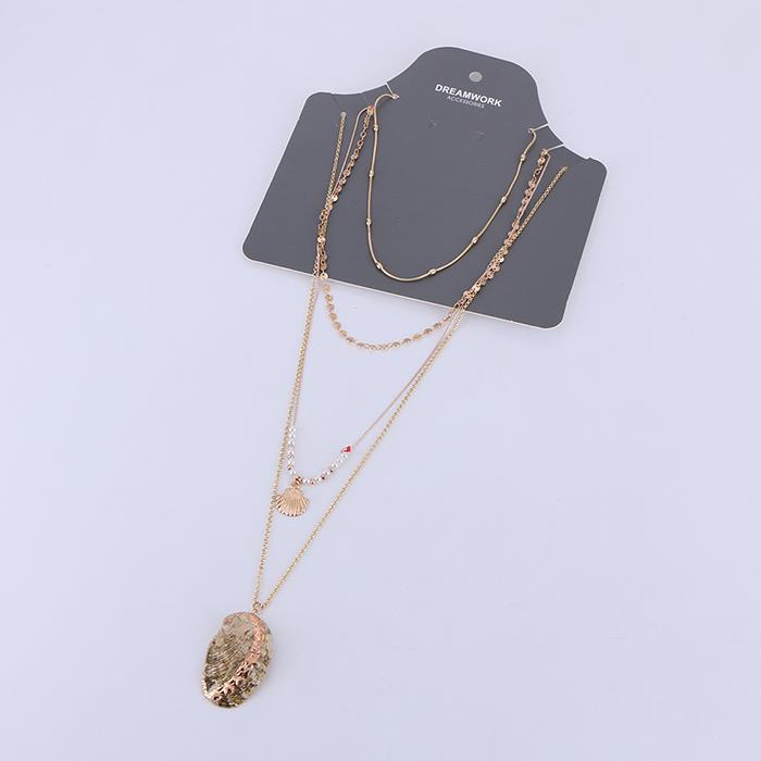 Multilayer Natural Shell Pendant Necklace.jpg