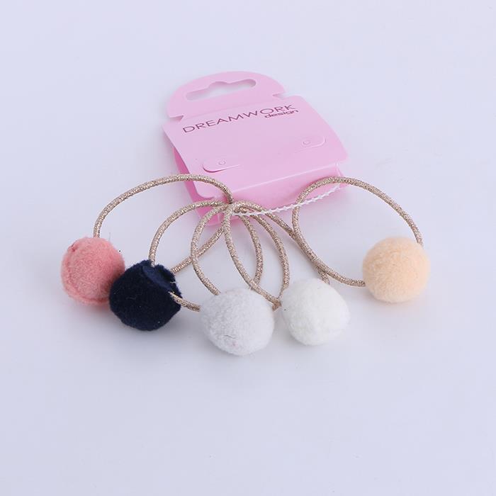 5pcs/set cute colored hair ball hair rope.jpg