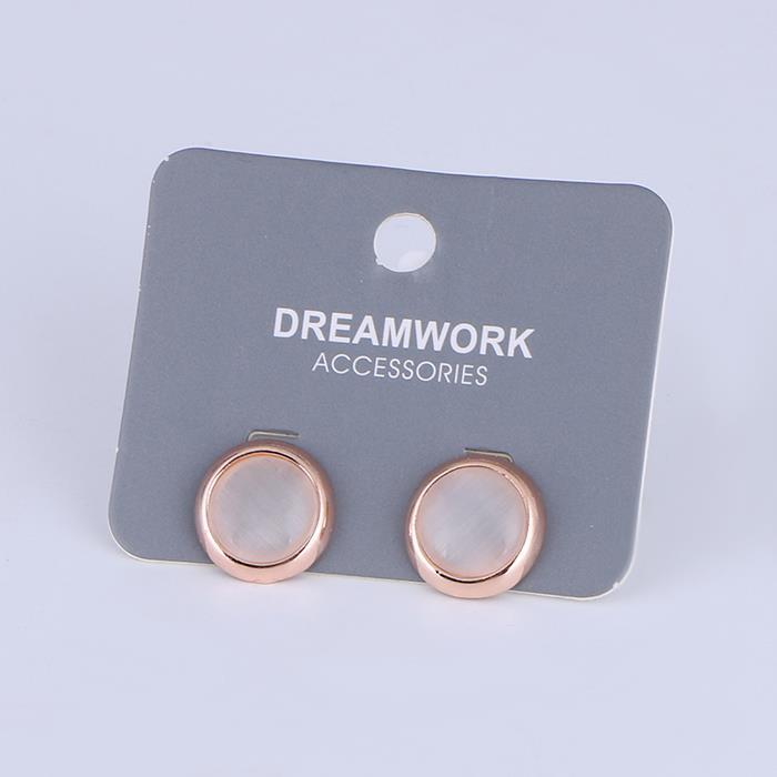 Elegant Resin rose Round Gold Stud Earrings.jpg