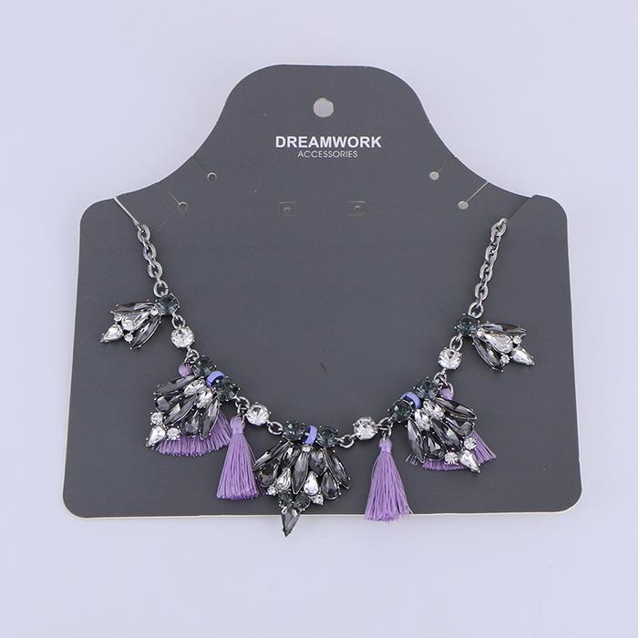 Exaggerated purple rhinestone fringed necklace.JPG
