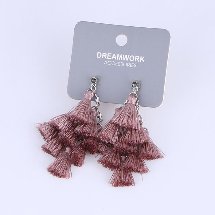 Solid multi-layer tassel earrings.JPG