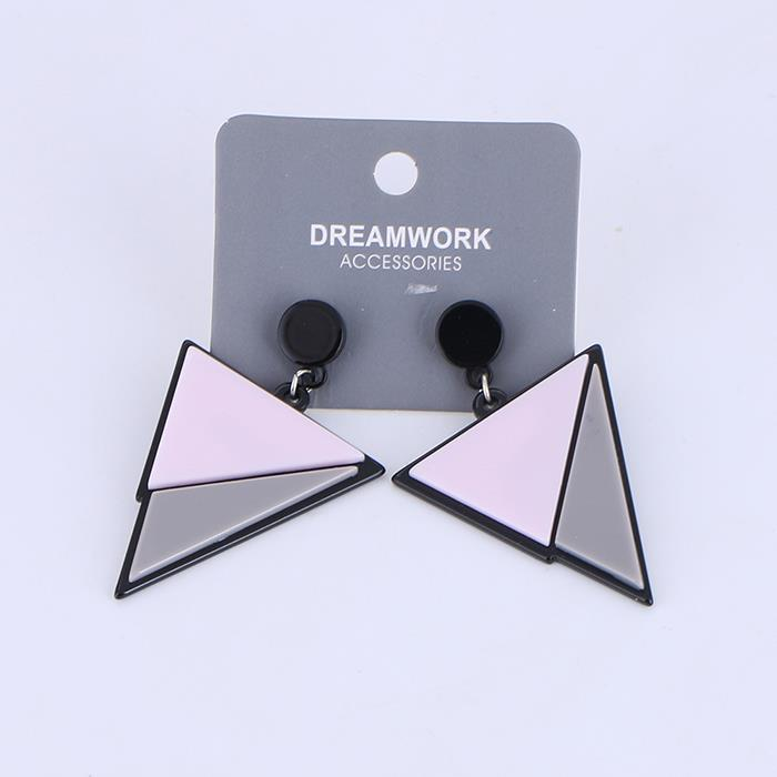 Colorblock triangle acrylic fashion earrings.jpg