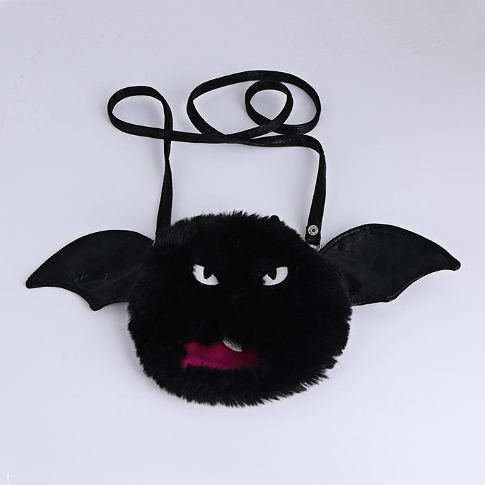Cartoon Plush Halloween Bat Bag Single Shoulder Bag.jpg
