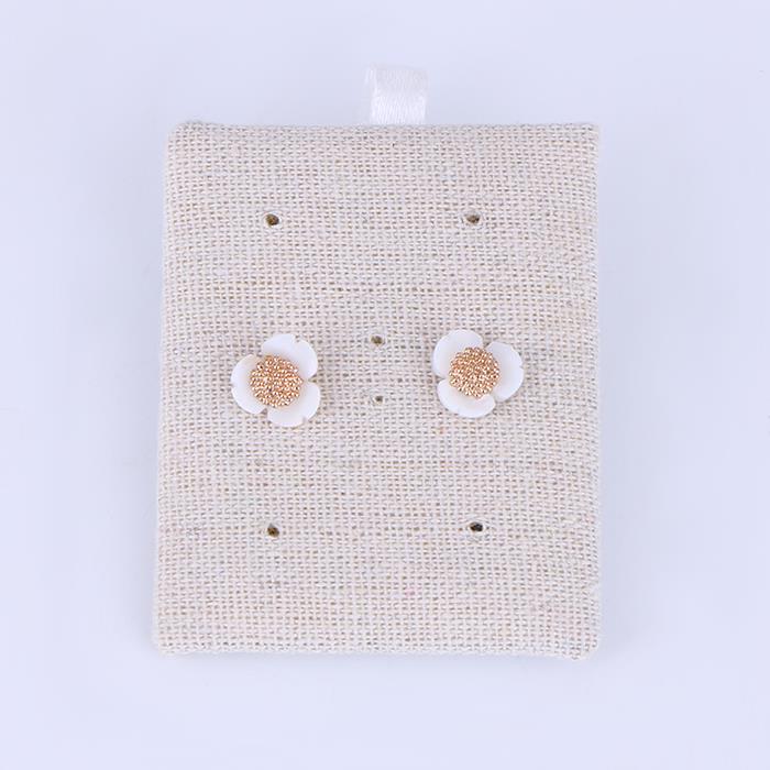 Fashion fresh white flower earrings.JPG