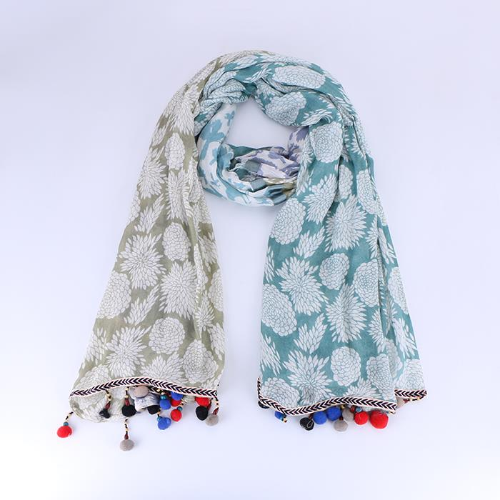 Women's ethnic style stitching print long tassel scarf shawl.JPG