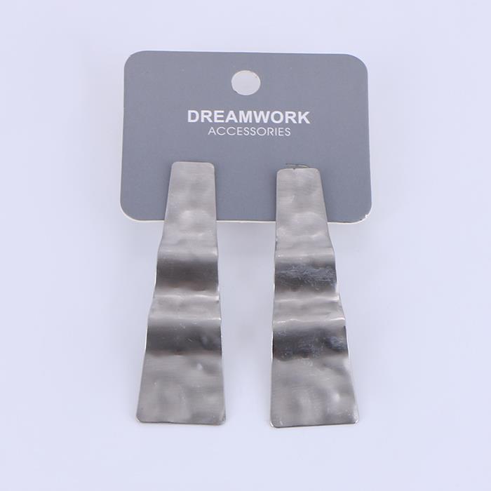 Exaggerated textured metal wavy earrings.JPG