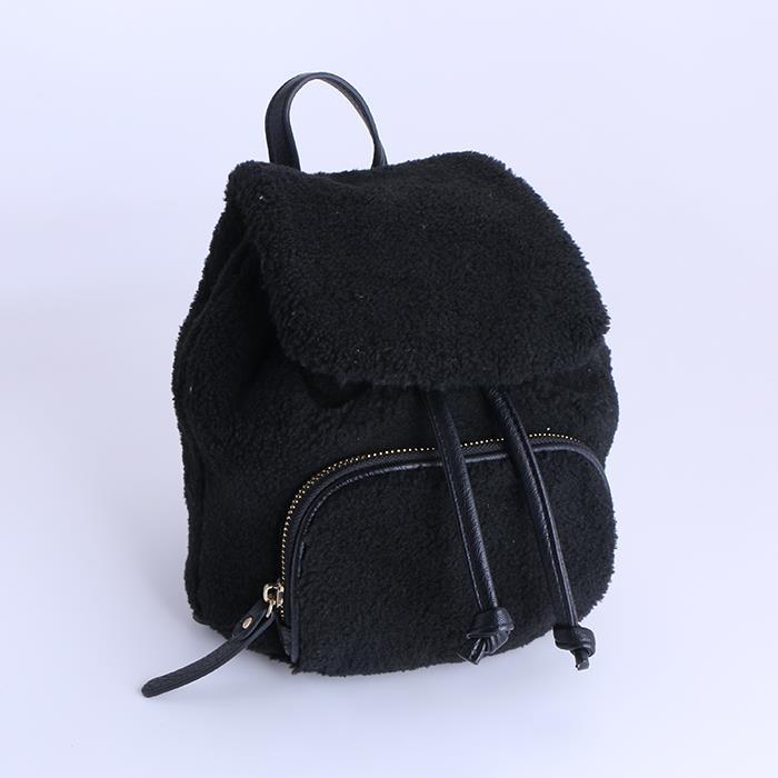 Soft Faux Fur Furry Backpack Daypack School Shoulder Bag Handbag.JPG