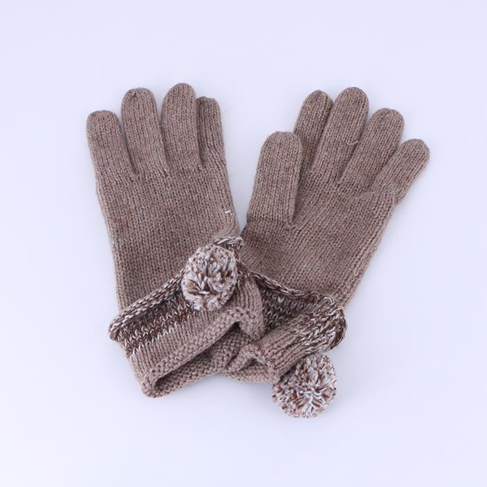 Elegant Women Girls Winter Warm Knitted Mitten Wool Gloves.JPG