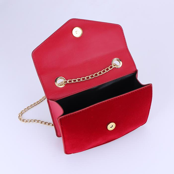 Classic Velvet Metal Chain Single Shoulder Bag.JPG