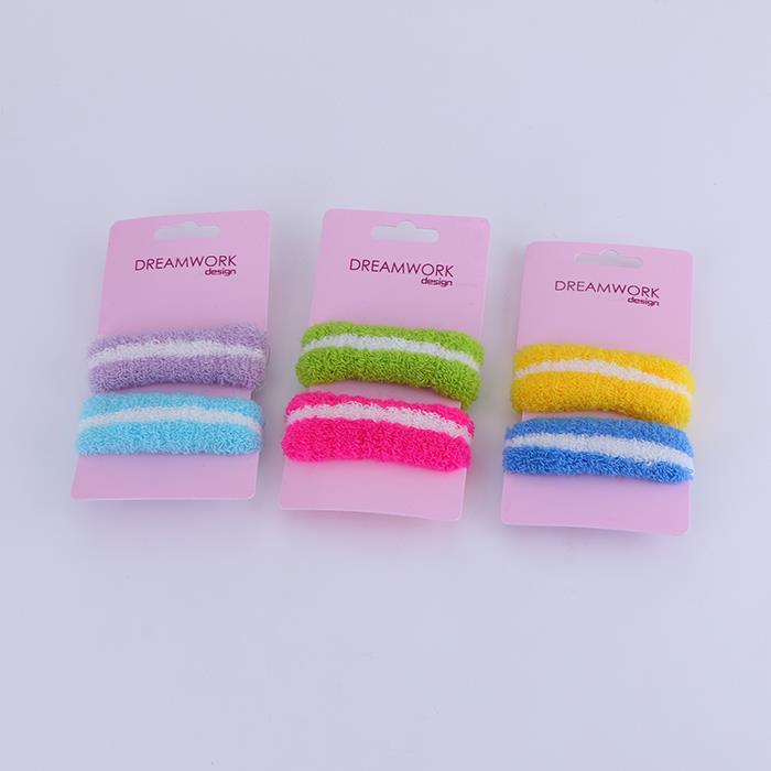 High quality durable elastic towel hair circle.JPG