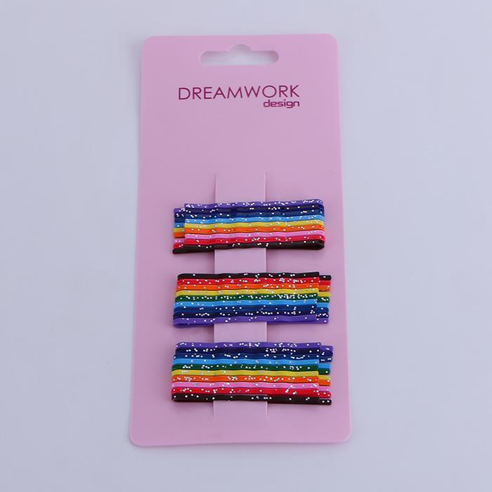 30pcs/3set rainbow-colored shiny hair clip.JPG