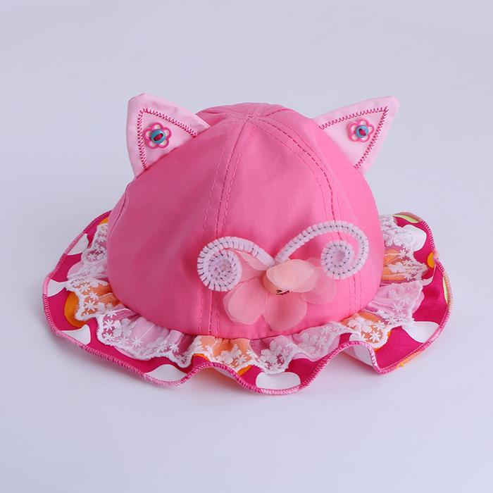 Baby cute lace cat ears sun protection sun hat.JPG