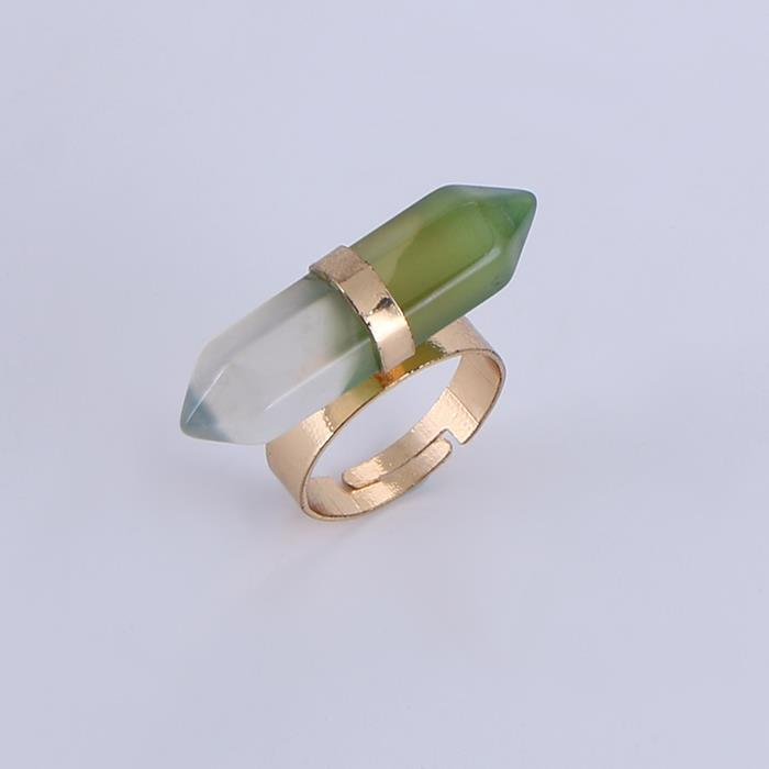 Vintage Conical Gradient Green Open Ring.JPG