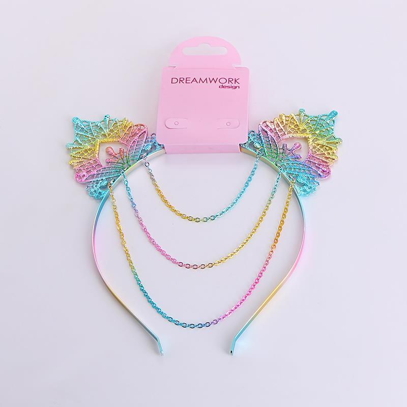 Cute colorful cat ears fringed metal headband.jpg
